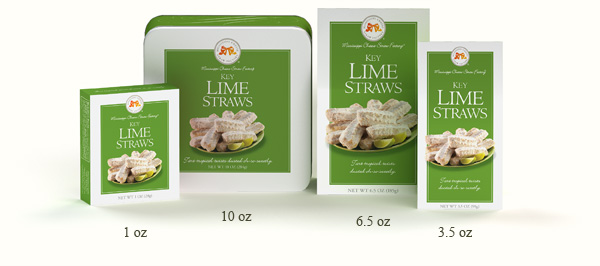 Key Lime Straws