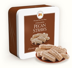 Cinnamon Pecan Straws 10 oz. Gift Tin