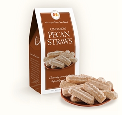 Cinnamon Pecan Straws™ 3.5 oz. Carton cinnamon, pecan, straw, cookie, dessert, confection, sugar, sweet, 3.5, ounce, gift, carton, Mississippi, Factory, shortbread, confection, buttery, hors doeuvre