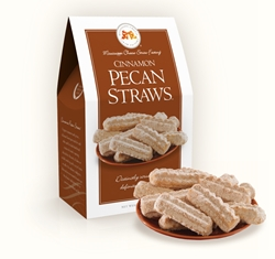 Cinnamon Pecan Straws™ 6.5 oz. Carton cinnamon, pecan, straw, cookie, dessert, confection, sugar, sweet, 6.5, ounce, gift, carton, medium, Mississippi, Factory, shortbread, confection, buttery, hors doeuvre