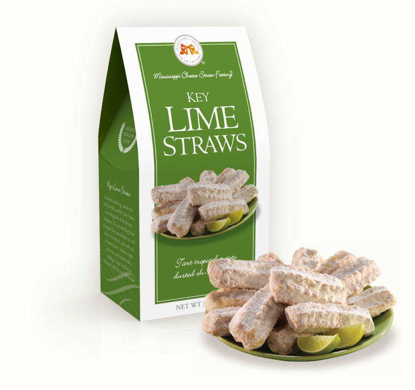 Key Lime Straws 3.5 oz. Carton