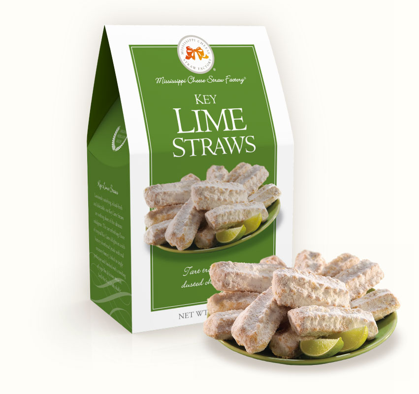 Key Lime Straws 6.5 oz. Carton