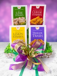 Mardi Party Tray Mardi Gras Gift Assortment, Mardi, Gras, Party, New Orleans, Tray, Assortment, Cheese Straws, Gourmet