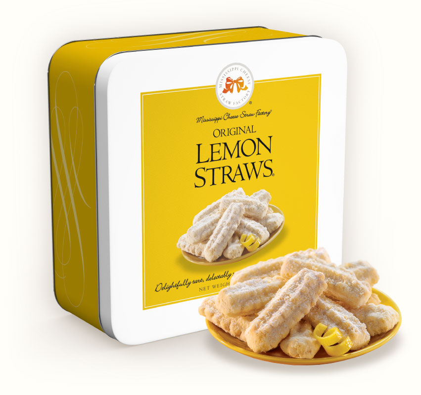 Original Lemon Straws 10 oz Gift Tin