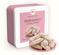 Peppermint Cookie Straws 10 oz. Gift Tin