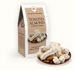 Toasted Almond Cookie Straws 3.5 oz. Carton