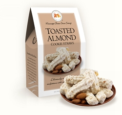 Toasted Almond Cookie Straws 5.5 oz. Carton