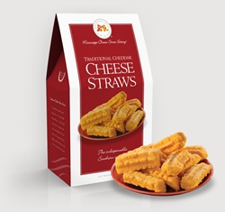 Traditional Cheddar Cheese Straws 14 oz. Carton shortbread, cheesy, hors doeuvre, Cheddar, Cheese Straws, Straw, savory, spicy, 14, ounce, gift, carton, Mississippi, Factory