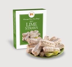 Key Lime Straws 1 oz. Single key lime, Cookie Straws, Straw, cookie, dessert, citrus, fruit, sweet, sugar, 1, ounce, gift, carton, single, Mississippi, Factory, shortbread, confection, buttery, hors doeuvre, tropical