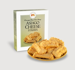 Asiago Cheese Straws 1 oz. Single Cheese, Cheese Straws, straw, savory, spicy, asiago, italian, 1, ounce, gift, carton, single, Mississippi, Factory, shortbread, cheesy, hors doeuvre
