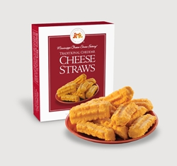 Traditional Cheddar Cheese Straws 1 oz. Single Cheddar, Cheese Straws, Straw, savory, spicy, 1, ounce, gift, single, Mississippi, Factory