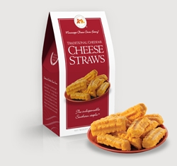 Traditional Cheddar Cheese Straws 3.5 oz. Carton Cheddar, Cheese Straws, Straw, savory, spicy, 3.5, ounce, gift, carton, Mississippi, Factory