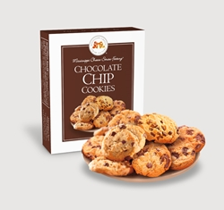 Chocolate Chip Cookies 1 oz. Single chocolate, chip, cookies, dessert, sweet, sugar, 1, ounce, gift, carton, single, Mississippi, Factory, confection, buttery, hors doeuvre, classic, mini, baked