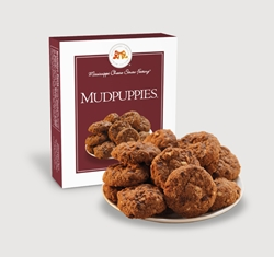 Mudpuppies® 1 oz. Single chocolate, chip, cookie, oats, pecans, sweet, dessert, 1, ounce, single, gift, carton, Mississippi, Factory