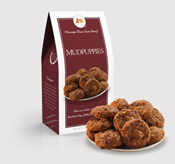 Mudpuppies® 3.5 oz. Carton chocolate, chip, cookie, oats, pecans, sweet, dessert, 3.5, ounce, gift, carton, Mississippi, Factory